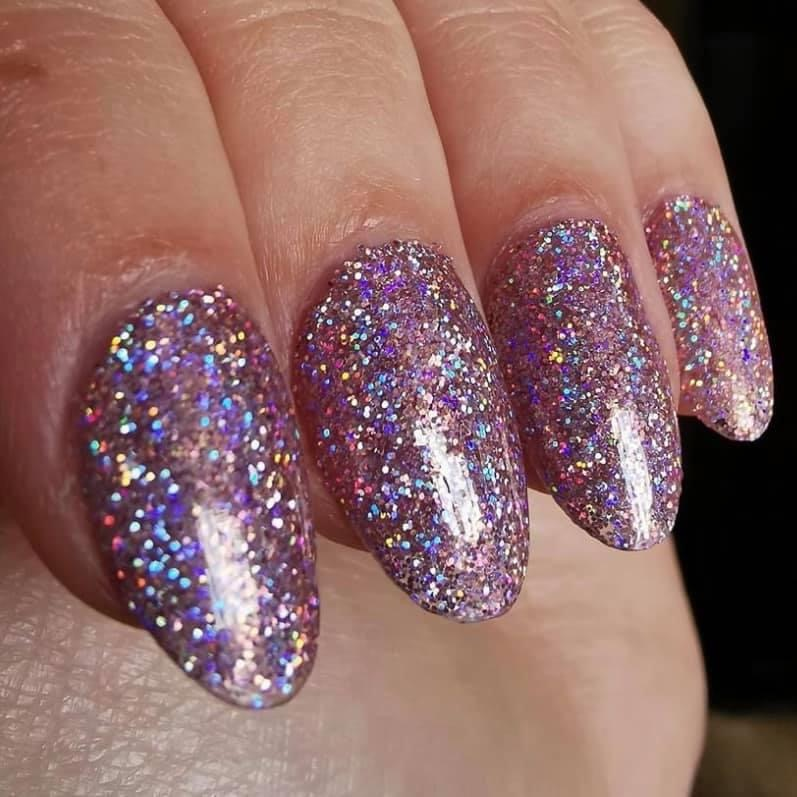 Using ultra fine glitter allows you to have that amazing sparkle without the lumps and bumps that normal glitter can leave